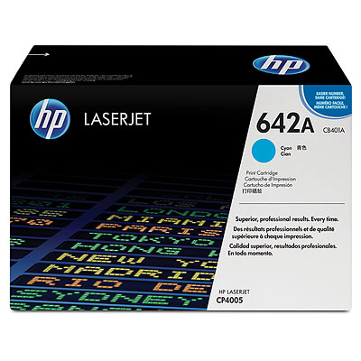 Mực in HP 642A Cyan LaserJet Toner Cartridge (CB401A)
