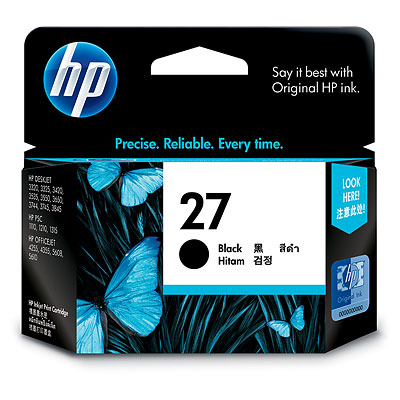 Mực in HP 27 Black Inkjet Print Cartridge (C8727AA)
