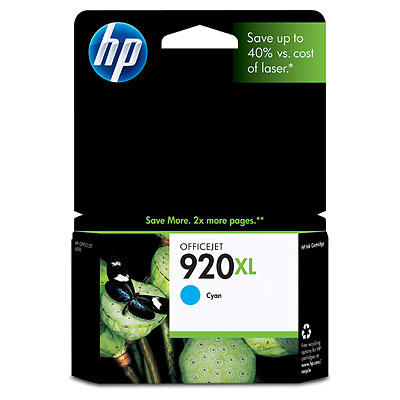 Mực in HP 920XL Cyan Officejet Ink Cartridge (CD972AA)