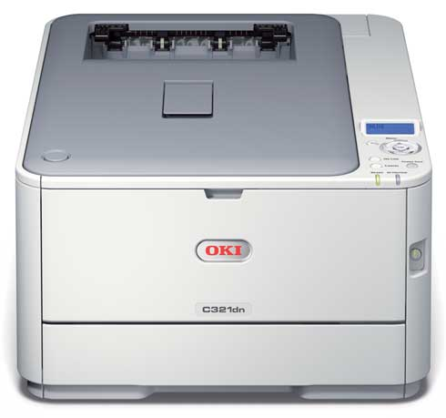 may in laser mau oki c321dn laser color printer - in thu truoc khi mua