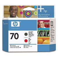 HP 70 Matte Black and Red Printhead (C9409A)